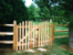 Roll Top Picket Double Drive Gate